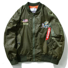 Load image into Gallery viewer, Navy seabees bomber jacket