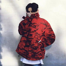 Load image into Gallery viewer, Camo pull over hooded jacket