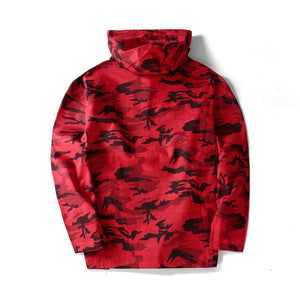 Camo pull over hooded jacket