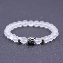 Load image into Gallery viewer, Iced out & dark bead Buddha bracelet