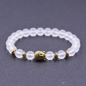 Iced out & dark bead Buddha bracelet