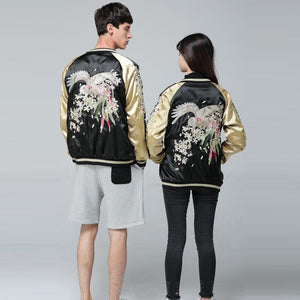 Japanese mystical bird sukajan jacket