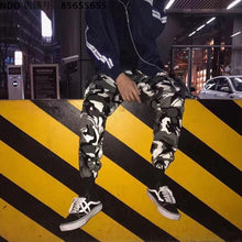 Load image into Gallery viewer, Security label camo cargo pants