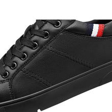 Load image into Gallery viewer, Dark leather casual sneakers