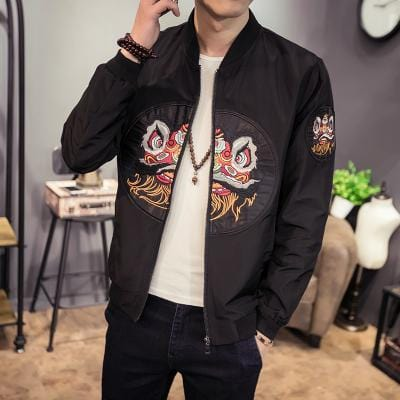 Ancient meets modern Chinese inspired jacket Chinese lion