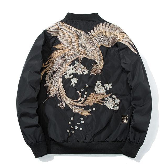 Mystical bird V2 bomber jacket