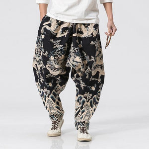 Lucky dragon baggy pants