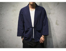 Load image into Gallery viewer, Solid Japanese kimono style shirt