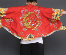 Load image into Gallery viewer, Golden phoenix Japanese kimono T-shirt