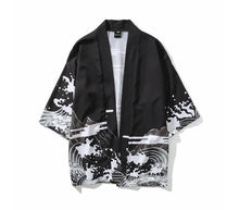 Load image into Gallery viewer, Japanese kimono dragon wave T-shirt