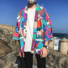 Load image into Gallery viewer, Japanese ukiyo kimono T-shirt