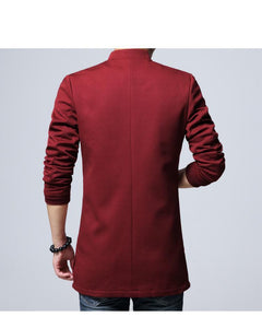 Tang Dynasty embroidery slim fit long jacket