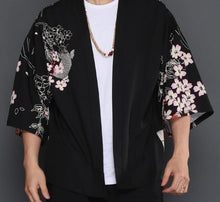 Load image into Gallery viewer, Sakura carp Japanese kimono T-shirt