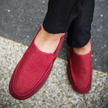 Load image into Gallery viewer, Canvas rubber bottom loafers