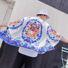 Load image into Gallery viewer, Okinawan dragon kimono T-shirt