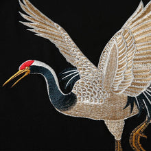 Load image into Gallery viewer, Chinese crane embroidery T-shirt