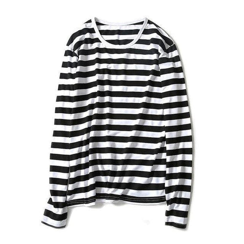 Casual striped long sleeve shirt