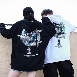 Japanese flying crane kanji hoodie color ver. 2
