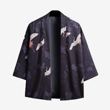 Load image into Gallery viewer, Flying crane kimono style T-shirt