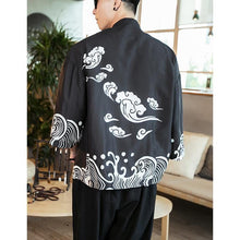 Load image into Gallery viewer, Cloud wave Japanese kimono style T-shirt