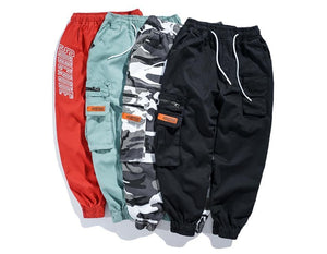 Various large cargo harem pants