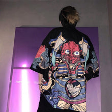Load image into Gallery viewer, Japanese oni kimono T-shirt