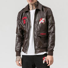 Load image into Gallery viewer, Japanese wave faux leather jacket