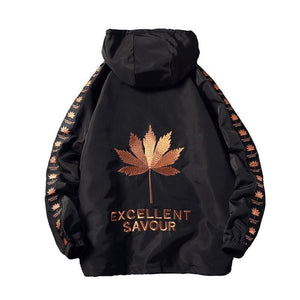 Maple leaf windbreaker jacket