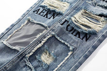 Load image into Gallery viewer, Graffiti reflector jeans
