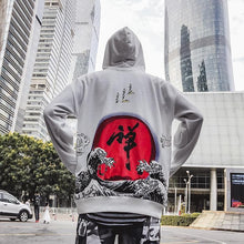 Load image into Gallery viewer, Rising waves Kanji hoodie