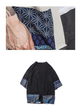Load image into Gallery viewer, Japanese style linen kimono T-shirt
