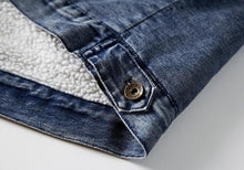 Load image into Gallery viewer, Fleece lining casual denim jacket