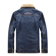 Load image into Gallery viewer, Brown fleece denim jacket