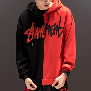 Splice scratch pull over hoodie