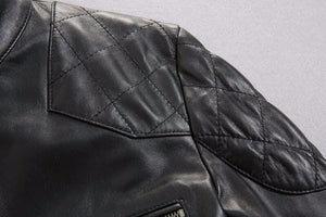 Genuine sheepskin leather jacket for men