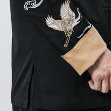 Load image into Gallery viewer, Flying crane golden cuff Tang jacket