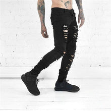Load image into Gallery viewer, Distressed skinny ripped jeans