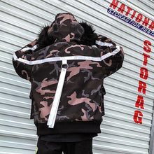 Load image into Gallery viewer, Large hood reflector camo jacket