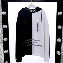 Load image into Gallery viewer, Ghost text patchwork hoodie