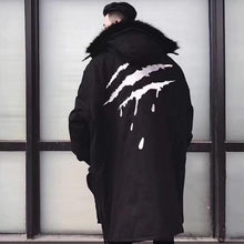 Load image into Gallery viewer, Raptor scratch fur hooded trench coat ver. 2