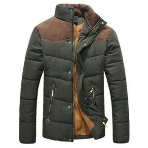 Casual parka patchwork jacket