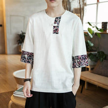 Load image into Gallery viewer, Ancient Chinese linen T-shirt