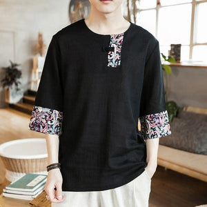 Ancient Chinese linen T-shirt