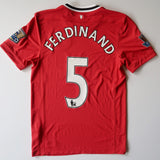 2011-12 Manchester United Home Shirt - Rio Ferdinand (SMALL)
