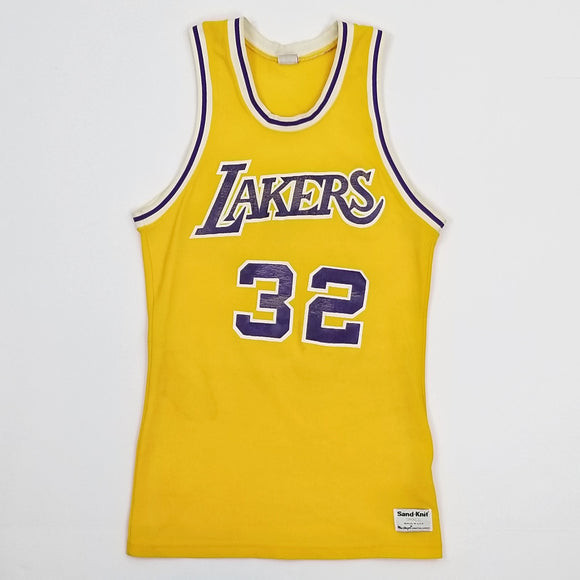 1980s Los Angeles Lakers Home Jersey - Magic Johnson (SMALL/XS)