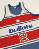 1980s Washington Bullets Away Jersey - Ennis Whatley (LARGE/MEDIUM)