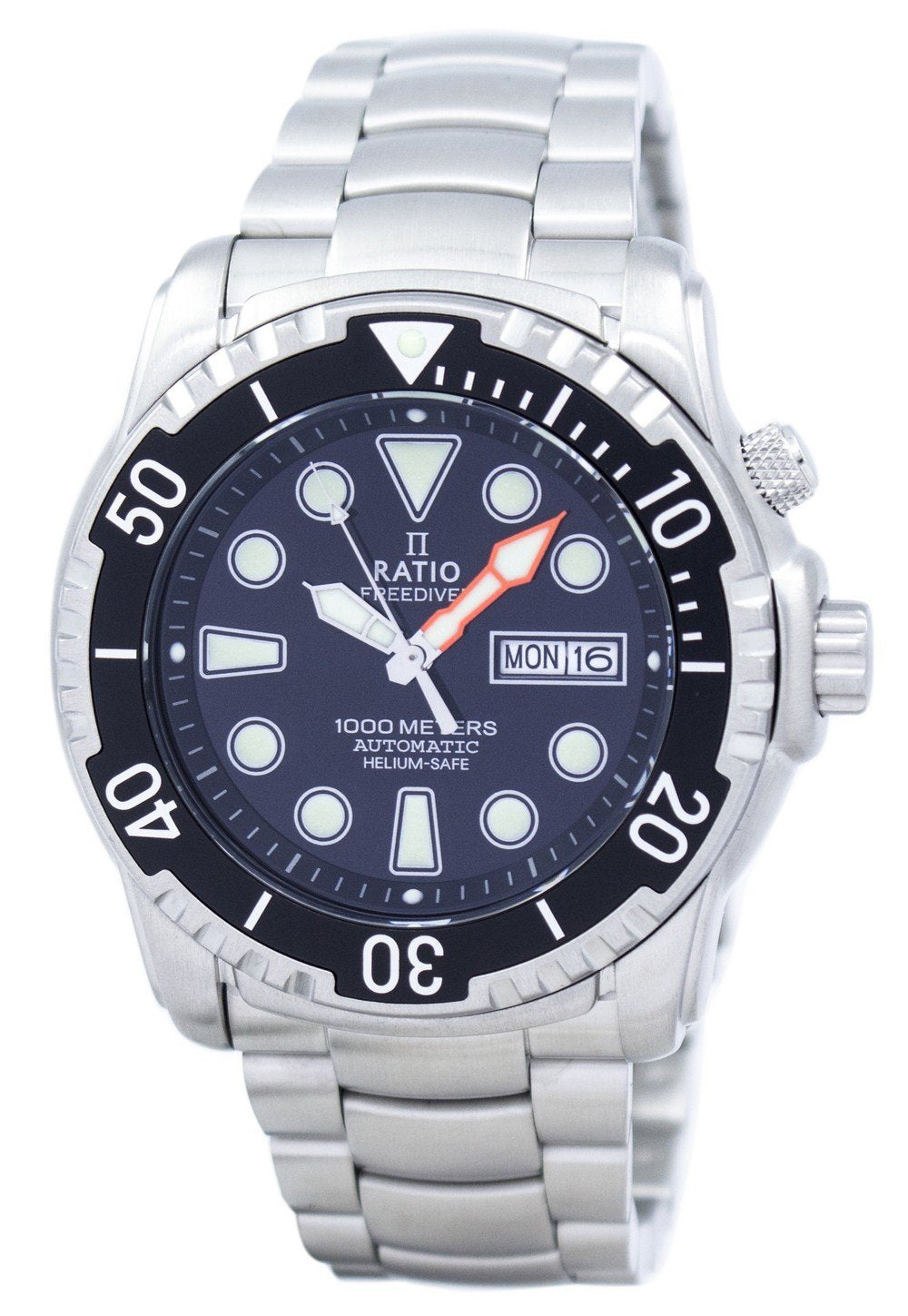 Ratio II Free Diver Helium-Safe 1000M Sapphire Automatic 1068HA96-34VA-00 Men's Watch