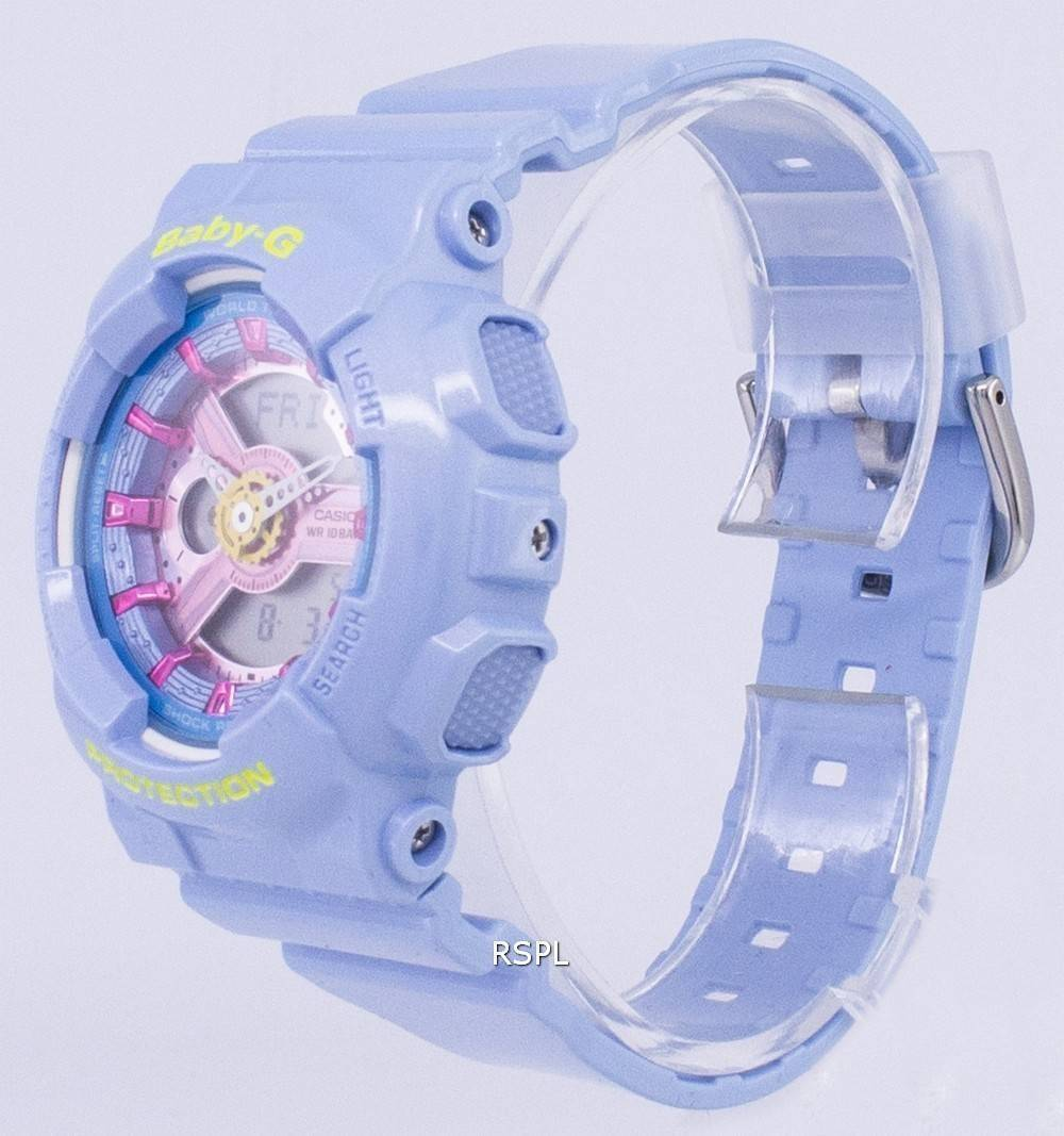 Casio Baby-G Analog Digital World Time BA-110CA-2A Women's Watch