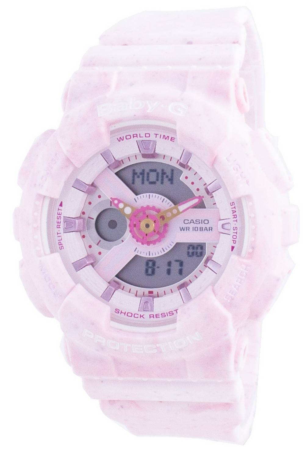 Baby-G World Time Shock Resistant BA-110PI-4A BA110PI-4 100M Women's Watch
