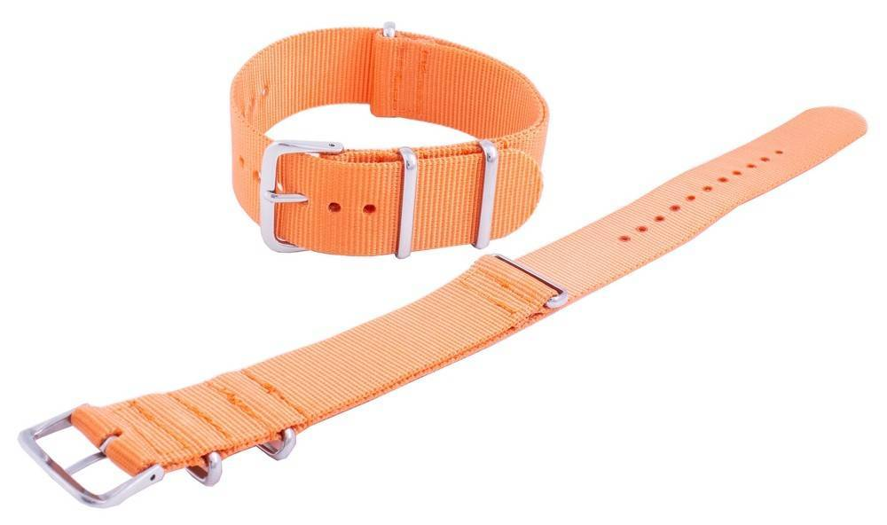 Seiko Orange NATO7 Nylon Strap 22mm